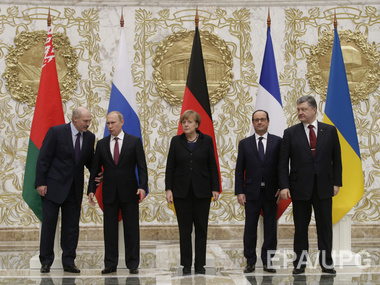 The members ofnegotiations of Normand format in Minsk